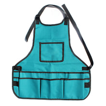 Load image into Gallery viewer, 2TRIDENTS Multi-Pocket Oxford Canvas Gardening Apron for Repairs, Painting, Crafts, Grilling, Woodworking, and More (Army Green)