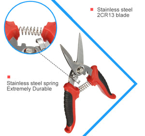 2TRIDENTS Multi Purpose Electrician Scissors with Non Slip Handle - Easy to Cut Electrical Cable Plant Branches