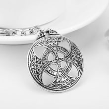 Load image into Gallery viewer, GUNGNEER Celtic Trinity Knots Infinity Pendant Necklace Cord Chain Cross Key Chain Jewelry Set