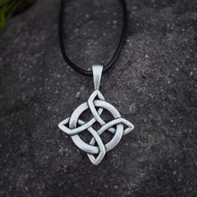 Load image into Gallery viewer, GUNGNEER Celtic Irish Trinity Knot Hair Pin Brooch Infinity Pendant Necklace Jewelry Set
