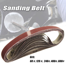 Load image into Gallery viewer, 2TRIDENTS 10 Pcs 15x452mm (0.59x17.8inch) Sanding Belt 60-600 Grit For Flush Belt Machines, Polishing Machine (Grit 240)