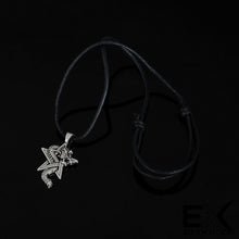 Load image into Gallery viewer, ENXICO Dragon with Pentagram Amulet Pendant Necklace ? Silver Color ? Wicca Pagan Witchraft Jewelry