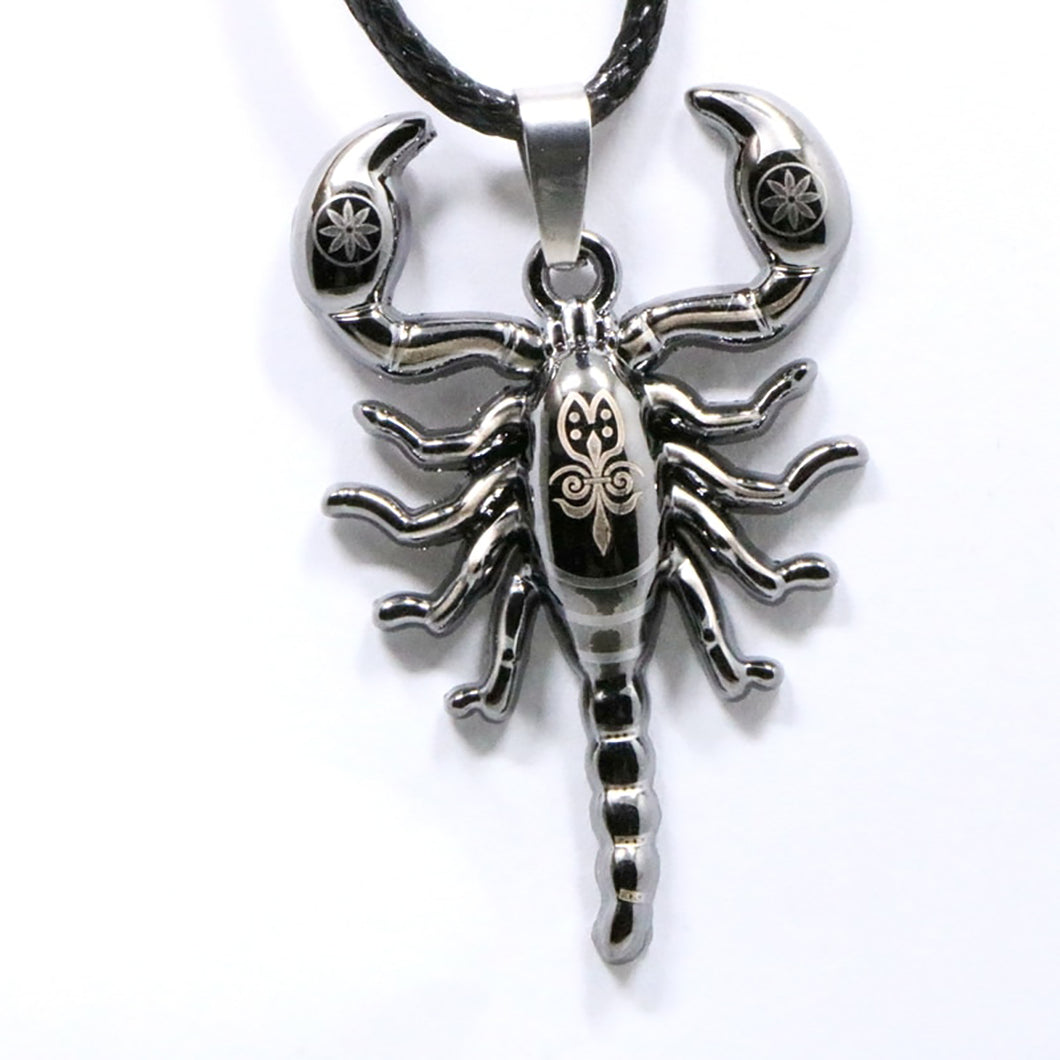 ENXICO Scorpion Scorpius Zodiac Symbol Pendant Necklace ? 316L Stainless Steel ? Animal Spirit Symbol Jewelry