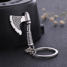Load image into Gallery viewer, GUNGNEER Celtic Triquetra Tree of Life Pendant Necklace Axe Key Chain Jewelry Set Men Women