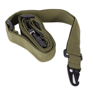2TRIDENTS Three-Point Adjustable Gun Rifle Sling - Black - Hunting & Shooting Accessory