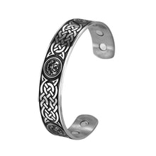Load image into Gallery viewer, GUNGNEER Circular Celtic Knots Stainless Steel Pendant Necklace Infinity Bracelet Jewelry Set