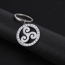 Load image into Gallery viewer, GUNGNEER Triquetra Trinity Celtic Knots Necklace Triskele Key Chain Jewelry Set Men Women
