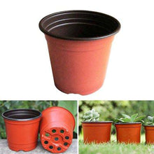 Load image into Gallery viewer, 2TRIDENTS 100 Pcs Plastic Plants Nursery Pots - Waterproof Garden Plant Grow Seeding Pot - Transplanting Digging Mini Tools