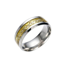 Load image into Gallery viewer, GUNGNEER Stainless Steel Celtic Knot Dragon Band Ring Jewelry Accessories for Men Women
