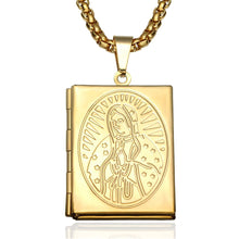 Load image into Gallery viewer, GUNGNEER Stainless Steel Mary Virgin Catholic Necklace Open Design Jewelry Accessories Men Women