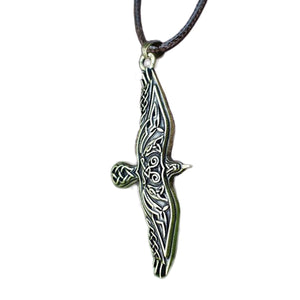 GUNGNEER Celtic Irish Trinity Viking Eagle Stainless Steel Pendant Necklace Jewelry Accessories