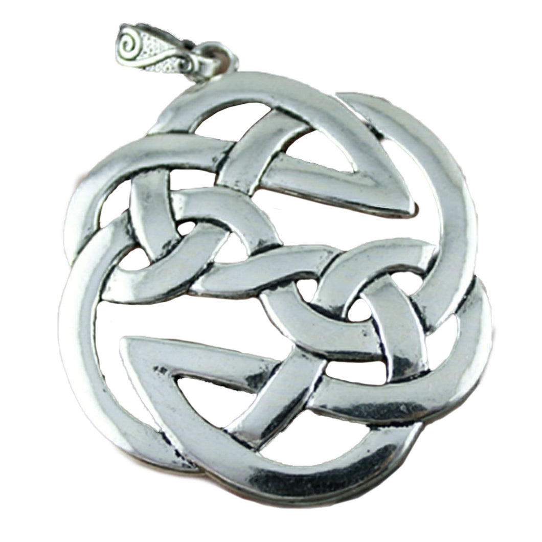 GUNGNEER Celtic Knots Triquetra Silver Stainless Steel Amulet Charm Pendant Jewelry Men Women