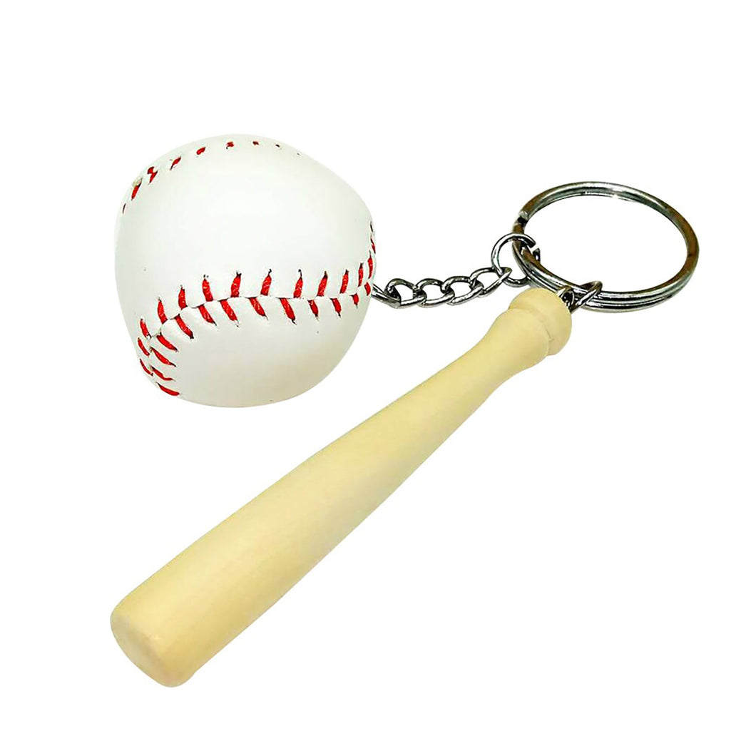 GUNGNEER Baseball Bat Keychain Ball Sports Key Holder Accessory Gift For Men Women