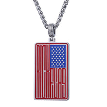 Load image into Gallery viewer, GUNGNEER Stainless Steel National US American Flag Pendant Necklace Women Men Patriotic Jewelry