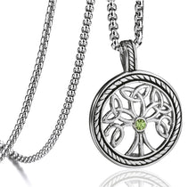 Load image into Gallery viewer, GUNGNEER Stainless Steel Celtic Tree of Life Pendant Necklace Infinity Ring Jewelry Set