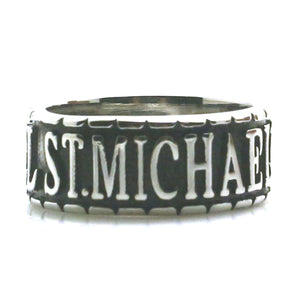GUNGNEER The Archangel St Michael Ring Prayer Accessory Stainless Steel Jewelry For Men