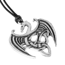 Load image into Gallery viewer, GUNGNEER Celtic Triquetra Knots Viking Dragon Trinity Pendant Necklace Stainless Steel Jewelry