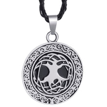 Load image into Gallery viewer, GUNGNEER Irish Tree of Life Pendant Necklace Stainless Steel Rope Chain Jewelry Men Women