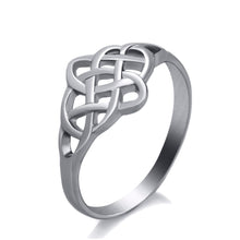 Load image into Gallery viewer, GUNGNEER Irish Pattern Classic Celtic Knot Trinity Stainless Steel Ring Jewelry Gift Men Women