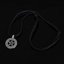 Load image into Gallery viewer, GUNGNEER Wicca Pentagram Pendant Necklace Leather Viking Bracelet Amulet Jewelry Set Men Women