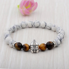 Load image into Gallery viewer, HoliStone Natural Stone with Warrior Helmet Bracelet for Women and Men