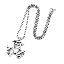 Load image into Gallery viewer, GUNGNEER Celtic Knot Triquetra Irish Trinity Pendant Necklace Stainless Steel Jewelry Men Women