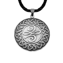 Load image into Gallery viewer, GUNGNEER Celtic Irish Trinity Knot Pendant Necklace Stainless Steel Jewelry Leather Rope Chain