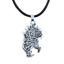 Load image into Gallery viewer, GUNGNEER Celtic Irish Knot Wolf Head Stainless Steel Pendant Necklace Jewelry Men Women