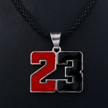 Load image into Gallery viewer, GUNGNEER Hip Hop Legend 23 Basketball Necklace Number Sports Jewelry For Boys Girls