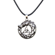 Load image into Gallery viewer, GUNGNEER Irish Celtic Viking Dragon Trinity Knot Pendant Necklace Stainless Steel Jewelry Gift