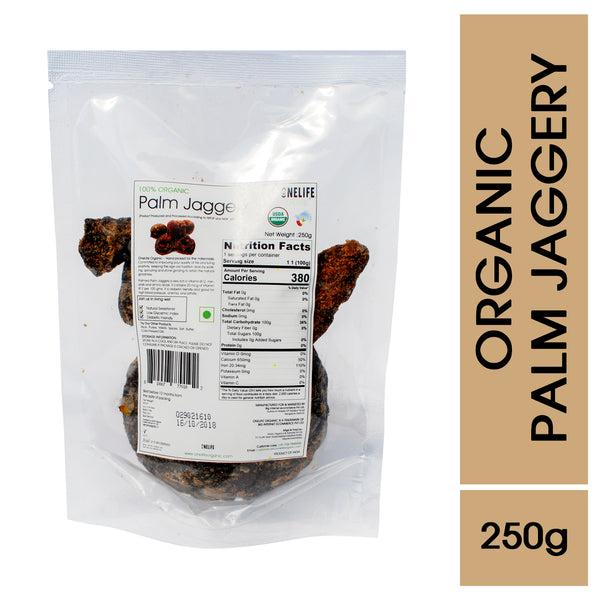 Organic Palm Jaggery - Natural Sweetener - 250g - Onelife Organic