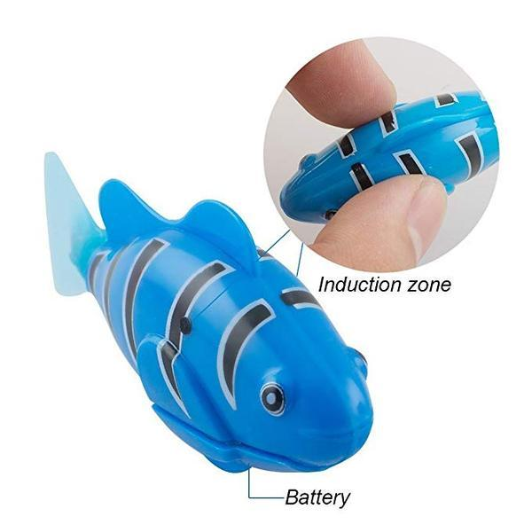 Image result for robot fish cat toy gif