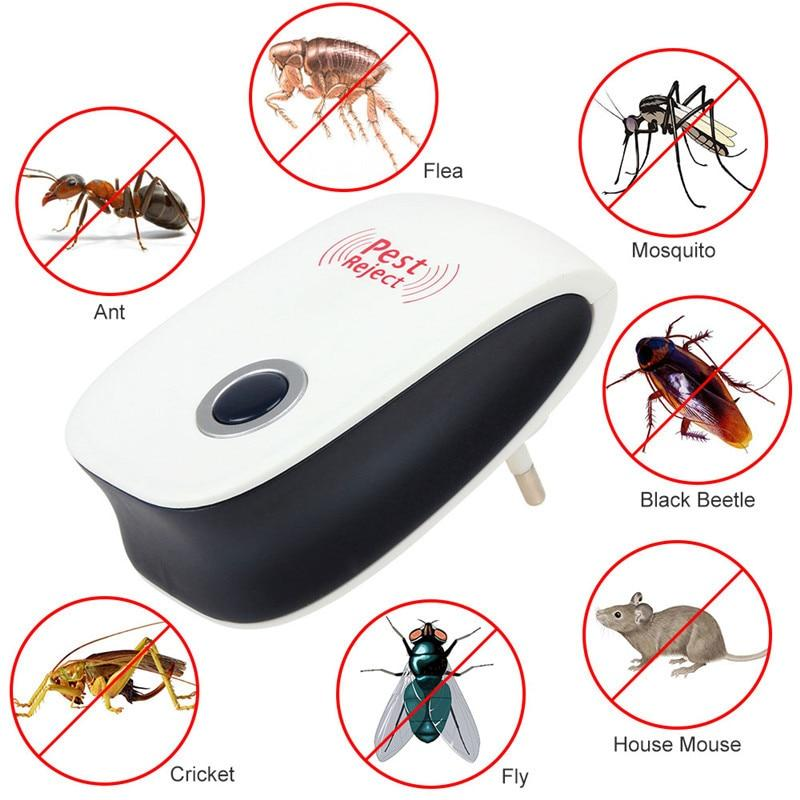 Security & Protection Brilliant Electronic Ultrasonic Mosquito Portable Intelligent Insect Repellent Pest Reject Insect Killer Adjustable And Usb Charging Port