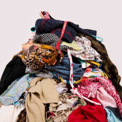 Clothes in pile