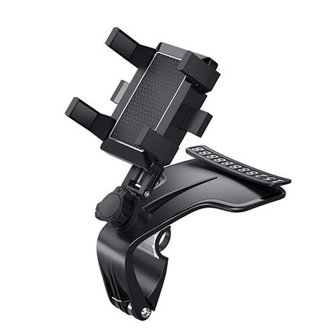 2021 Newest 360° Rotation Adjustable- (with Hidden Parking Number Plate) Car Phone Holder