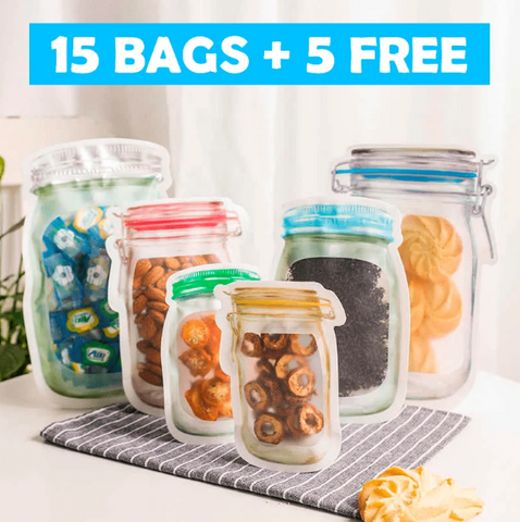 Reusable Bags (15 BAGS+ 5 FREE)