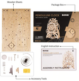 Wooden Pendulum Clock Building Kit DIY