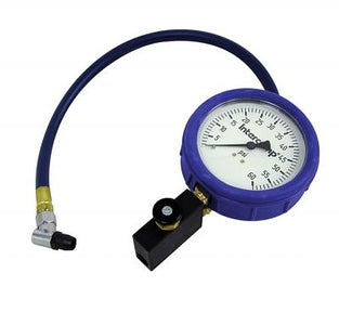 "4"" - 60PSI FILL, BLEED, & READ AIR PRESSURE GAUGE"