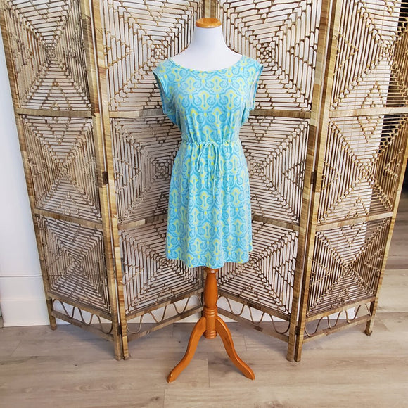 Knit Ikat Print Dress