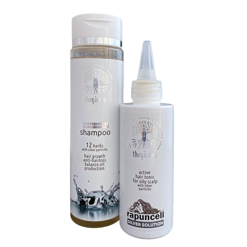 SILVER Duo Pack (shampoo and tonic for dry hair and quickly oily scalp)