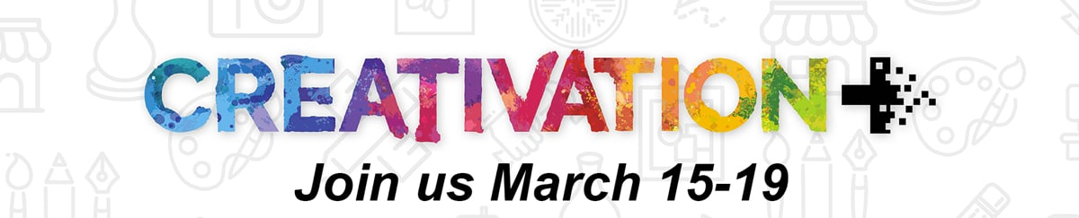 creativation banner join us march 15-19 for the event