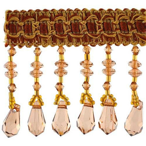 "Fascination Collection Beaded fringe --2 1/2"" width -BB-926-16-10"