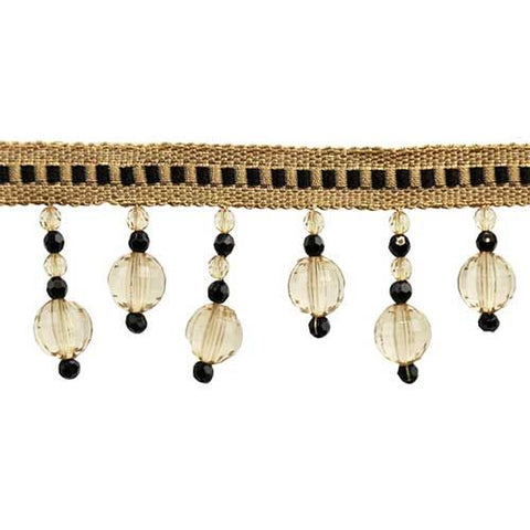 "Fascination Collection Beaded fringe --2 1/2"" width - BB-928-02/38"