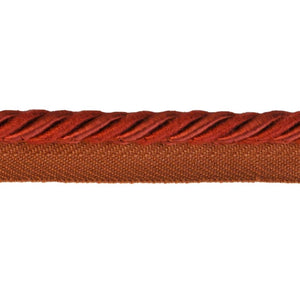 "Colors Collection 1/4""  Cord with Lip - Rust"