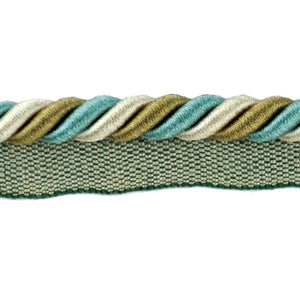 "Elegance Collection 3/8"" Cord with Lip - Turquoise and Sable"