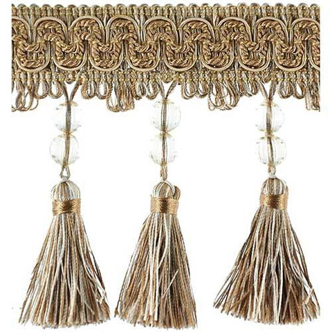 "Fascination Collection Beaded Tassel Fringe -4 1/2"" width- BF-1458-16/36"