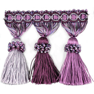 "Elegance Collection 3"" Tassel Fringe - Lilac and Purple"