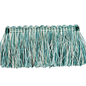"Elegance Collection 2"" Brush Fringe - Turquoise and Mint"