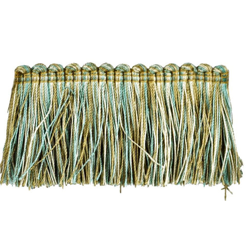 "Elegance Collection 2"" Brush Fringe (25 YD ROLL) in Turquoise/Sable - BF-1480-33/16"