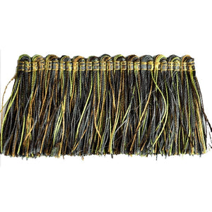 "Elegance Collection 2"" Brush Fringe - Moss and Brown"